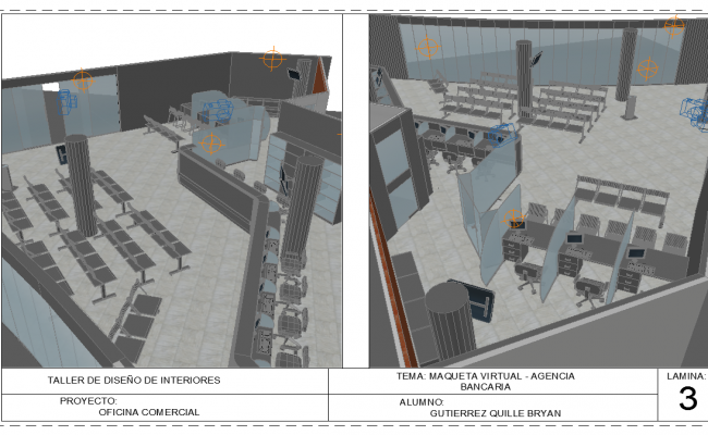 3d Bank Project detail dwg file