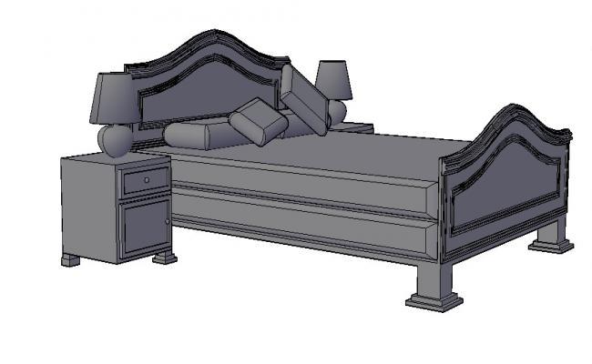 3d Bedroom Furniture In AutoCAD File