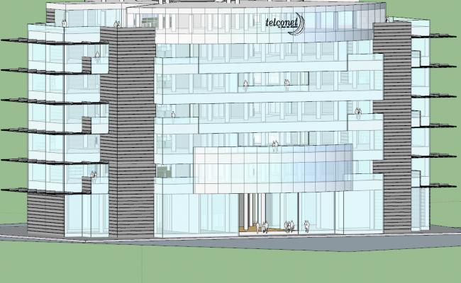 3d Building Project skp file