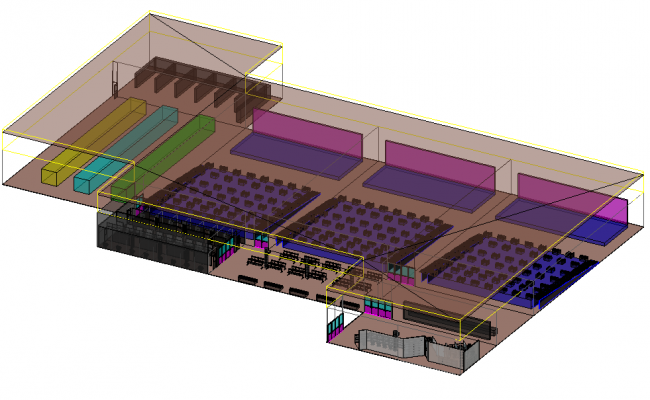 3d Cinema plan dwg file