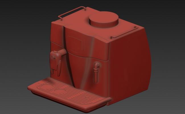 3d Coffee Machine Model MAX File