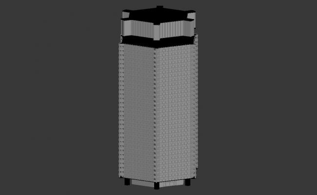 3d Commercial Tower building Design