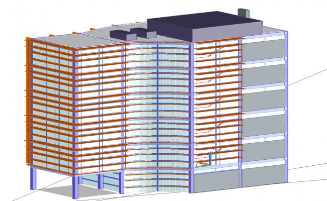 3d Corporate Building elevation design