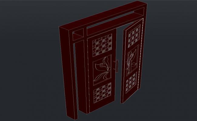 3d Door Model CAD Drawing