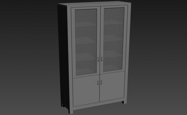 3d Furniture Cupboard with Glass Door Design Max File