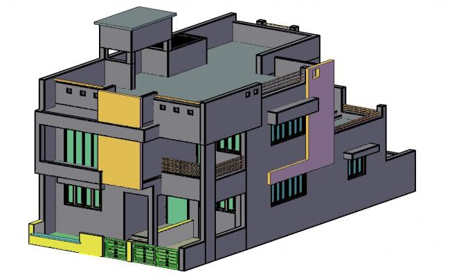 3d House Design DWG File