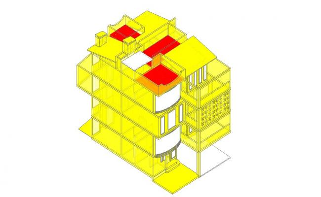 3d House Drawing In AutoCAD File