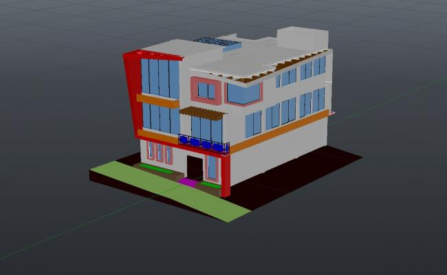 3d House In DWG File