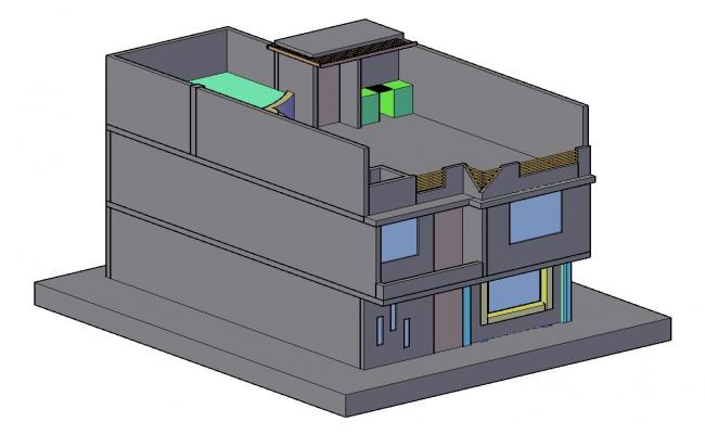 3d House Plan In AutoCAD File