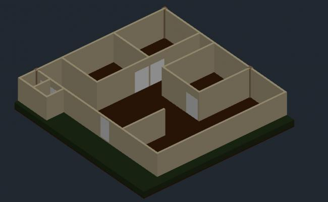 3d House design in DWG file
