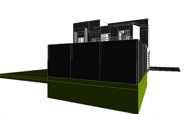 3d House plan dwg file
