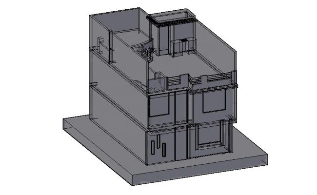 3d House plan in AutoCAD