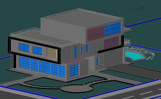 3d House project dwg file