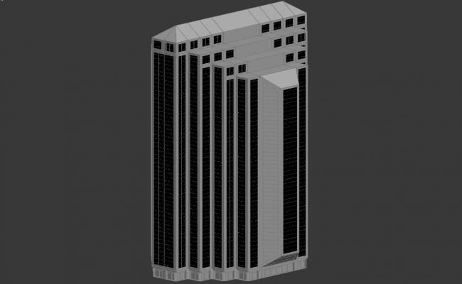 3d Max Drawing of Commerce Building