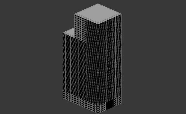 3d Max file of Commercial Building Free Download