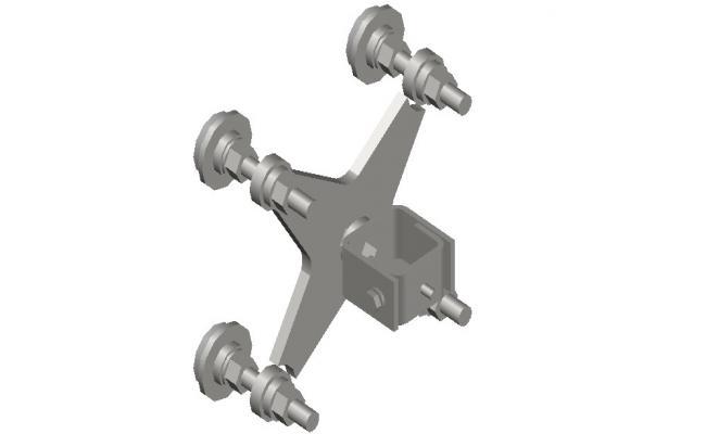 3d Mechanical blocks design CAD drawing