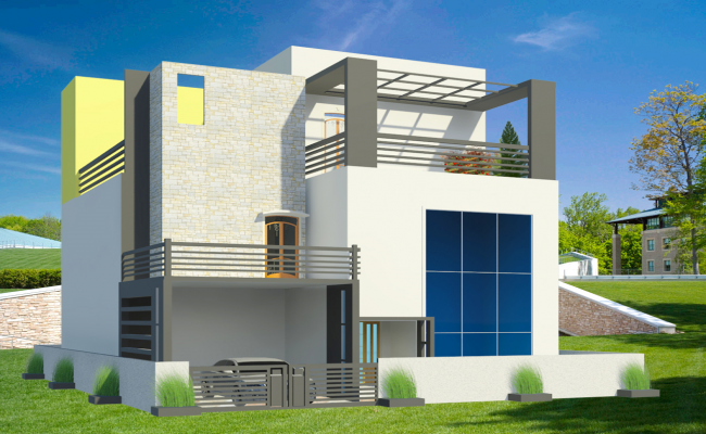 3d Modern House Project