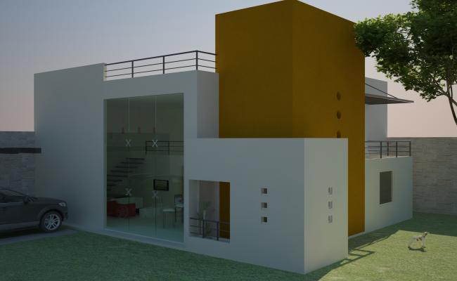3d Modern House plan