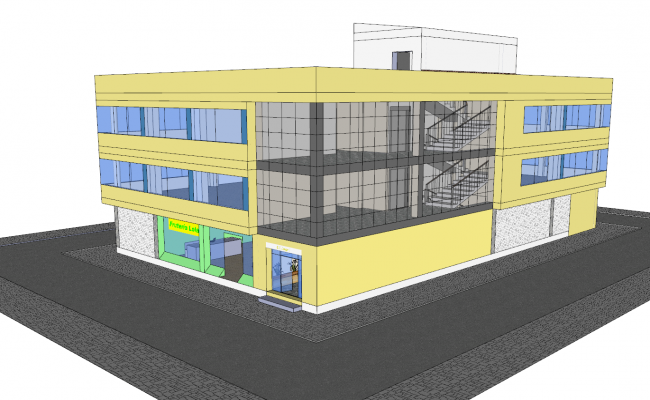 3d Office Building Design