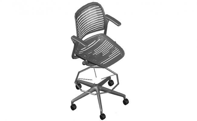 3d Office Chair Furniture AutoCAD blocks