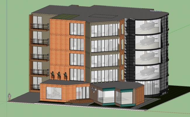 3d Office Model building design