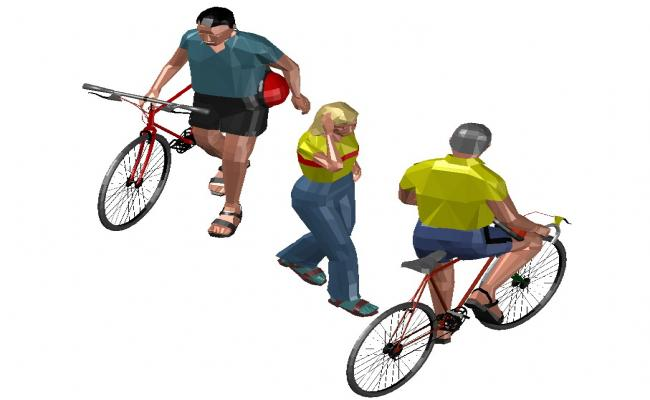 3d People DWG file