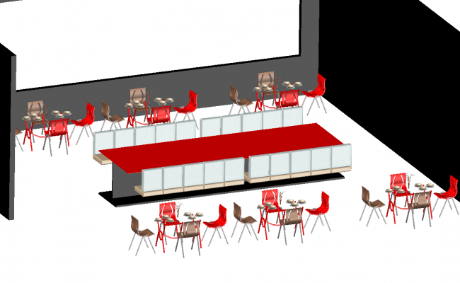 3d Restaurant project dwg file