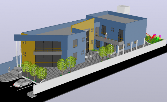 3d School Project detail dwg file