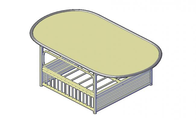 3d Seating Table Design In AutoCAD File