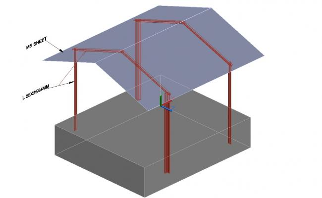 3d Shed DWG File