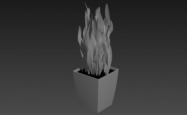 3d Shrub Plant Design Max File