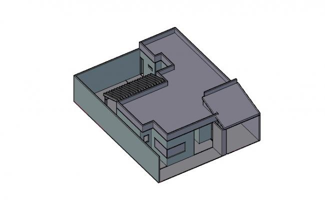 3d Small House Elevation In AutoCAD File