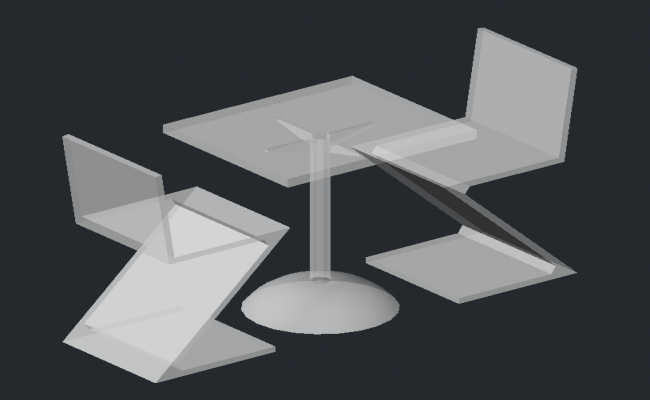 3d Table and Chair
