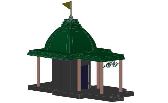 3d Temple Design DWG File