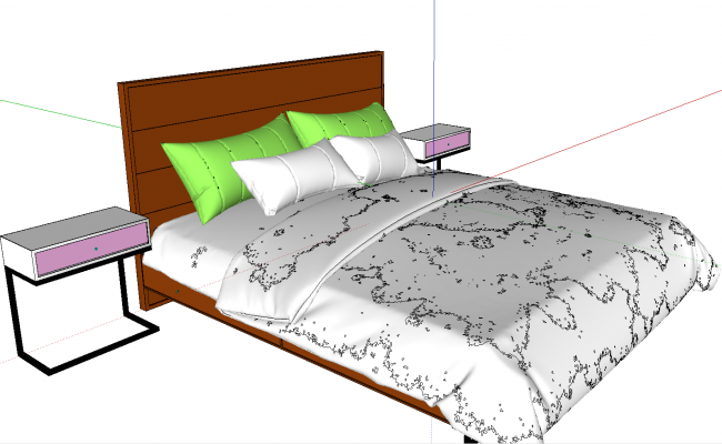 3d bed Sketchup FIles