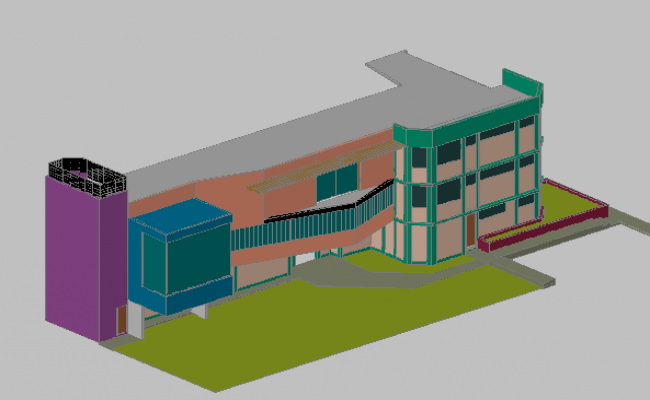 3d building view dwg file