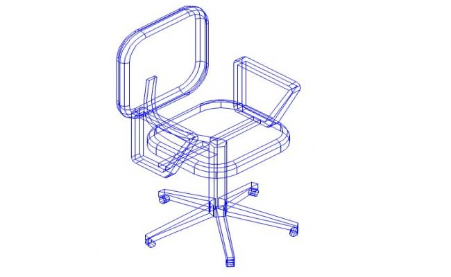 3d chair cad drawing
