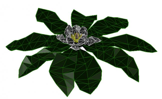 3d decorative plant dwg file