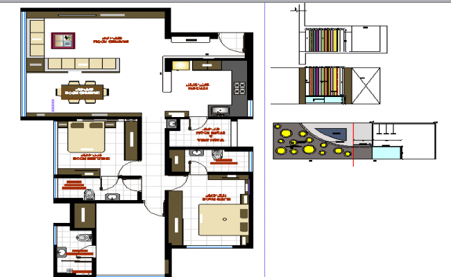 3d design of architecture layout plan of single family house dwg file