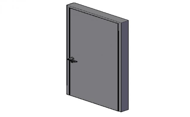 3d design of bathroom door details dwg file