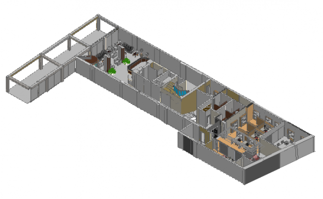 3d design of corporate office layout plan dwg file