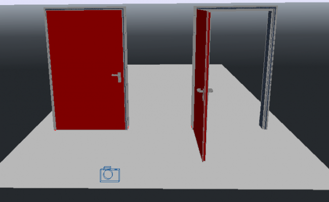 3d design of door details of office dwg file