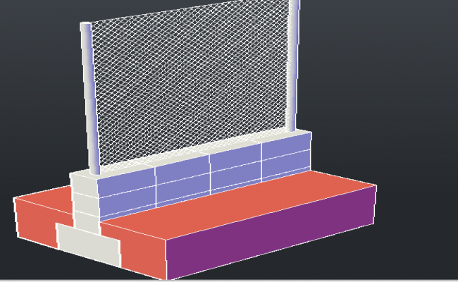 3d design of fence panel project dwg file