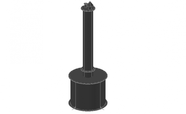 3d design of gas tank with water dwg file