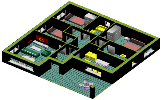 3d design of house architecture layout plan details dwg file