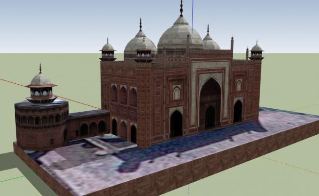 3d design of mirahtaj architecture project dwg file