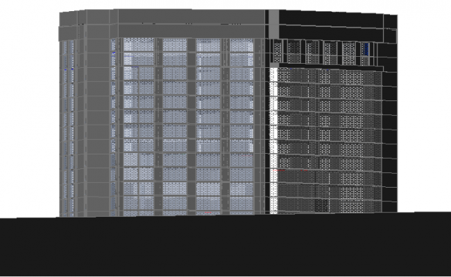 3d design of multi-story scotia bank building dwg file