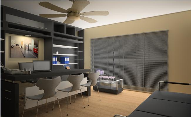 design of office interior details dwg file
