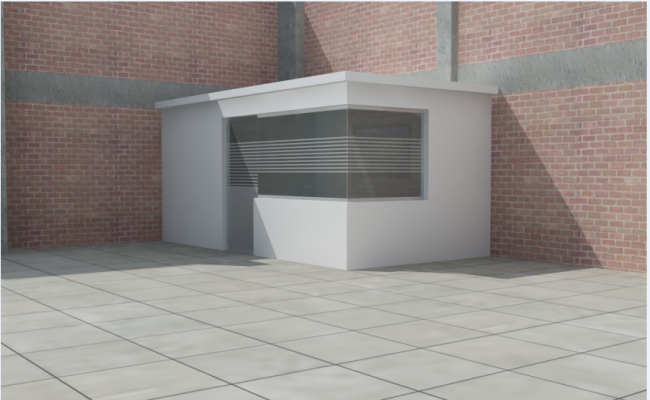 3d design of office table architecture project dwg file