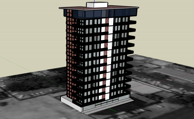3d design of residential housing building dwg file